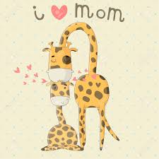 s day giraffe greeting card for s day illustration with