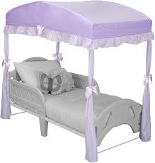 princess canopy beds for girls amazon com delta children girls canopy for toddler bed purple