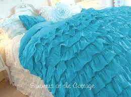 aqua ruffle comforter the 25 best ruffled comforter ideas on pinterest white ruffle