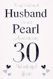 to my husband on our pearl anniversary card cards