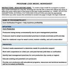 logic model template in excel simple best resume templates