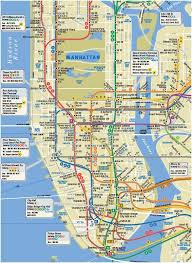 map of manhattan best map of manhattan travel maps and major tourist attractions maps