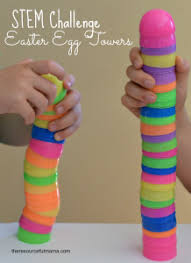 talking easter eggs plastic easter egg towers stem challenge the resourceful