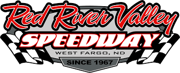 Two Racing Flags Logo Red River Valley Speedway The Fastest Track Is Back