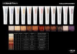 sebastian professional cellophanes color chart hair products