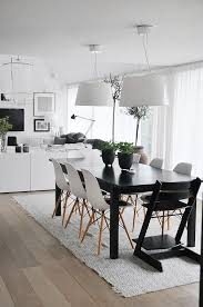 black table white chairs my scandinavian home swedish ceramicist s living space love the