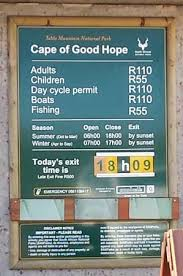 entrance fee for cape point nature reserve picture of cape point