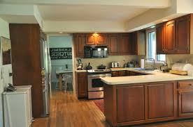 Center Island Kitchen by U Shaped Kitchen With Center Island Sink Granite Countertop Red