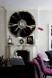 mirror black and gold wall mirror fascinate black and gold round