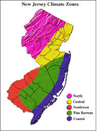 Weather Zones For Gardening - new jersey climate overview