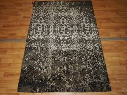 5 By 5 Rug 3 U00277 U0027 U0027x5 U00275 U0027 U0027 Distressed Wool U0026 Silk Brown Rectangle Rug From Morton