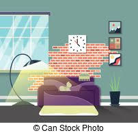 clip art vector of home interior design and decor vector