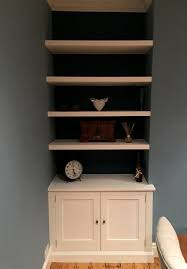 bespoke alcove cabinet with floating shelves this was fitted in