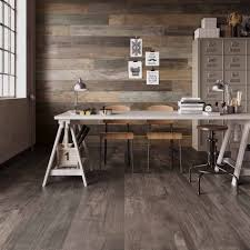Rustic Modern Kitchen by Wood Look Tile 17 Distressed Rustic Modern Ideas