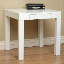 cheap white end tables lachlan glossy white end table overstock com