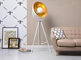 Standleuchten Wohnzimmer Beleuchtung Stehlampe Weiss 165 Cm Thames Ii Beliani Ch