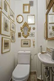 Narrow Powder Room - bold color in the powder room bold colors powder room and bald