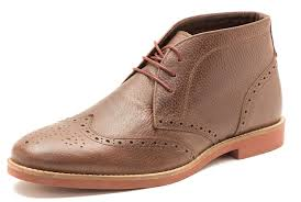 red tape foxhill milled brown mens leather lace up ankle desert