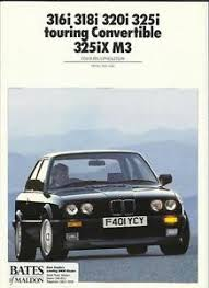 bmw 320i brochure reduced bmw 3 series inc m3 e30 colours and trim car