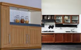 buy wood kitchen cabinets what are the pros cons of pvc and wood kitchen cabinets