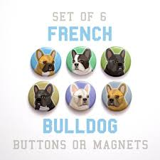 art and home decor by john w golden john w golden s french bulldog buttons
