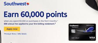 chase southwest business premier 60 000 point bonus doctor of credit