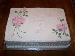 wedding sheet cake shower sheet cake 3