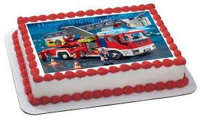 firetruck cakes lego truck edible birthday cake or cupcake topper edible