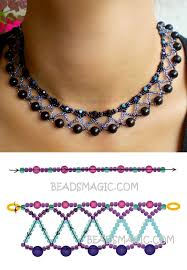 round beads necklace images Free pattern for necklace nicole seed beads 11 0 faceted round jpg