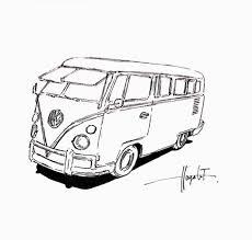 volkswagen van drawing volkswagen van u2013 hayato fukushima