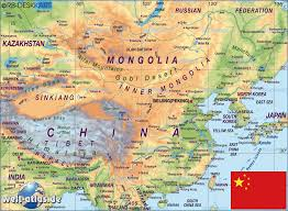 Physical Map Of China by Maps World Map Of China
