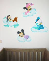 cartoon mickey minnie mouse cute animal vinyl wall stickers mural