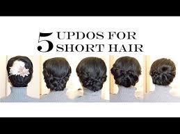 upsweep for medium length hair how to for short medium hair 5 easy updo hairstyles no heat