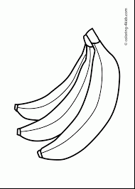 fantastic black and white leaf coloring page with banana coloring