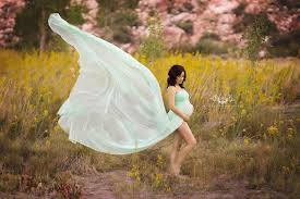 maternity photo props mint chiffon lace maternity gown maternity dress chiffon