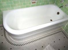 refinish cast iron bathtub kohler villager 5 ft left hand drain integral apron cast iron