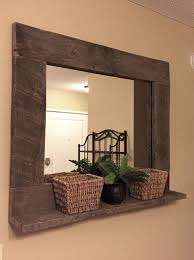 Decorate Bathroom Mirror - homely idea wooden bathroom mirror with shelf cabinets dark wood