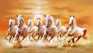 Equine Home Decor by Vastu Running Seven Horse Painting Vastu Paintings Pinterest