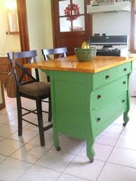 kitchen room repurposed dresser to kitchen buffet with butcher