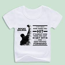 sylvester t shirt boy and girl rocky balboa printed t shirts children sleeve o
