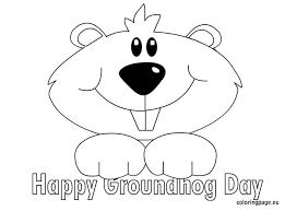 groundhog coloring