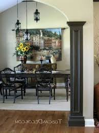 imaginative black columns dining room mediterranean with tuscan