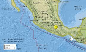 map central mexico central mexico 7 1 earthquake september 19 2017