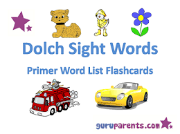 Words Cards Reading Fluency With Dolch Words Guruparents