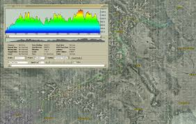 Colorado Elevation Map by Colorado Trail Race