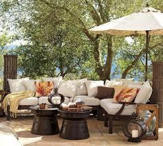 plant pot ornament outdoor pool patio furniture ideas beige stone