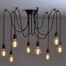 8 heads vintage industrial ceiling l edison light chandelier