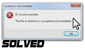 drive not accessible solved the file or directory is corrupted or unreadable hard