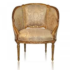 French Style Armchair Carved Floral Decoration Mahogany Louis Xvi French Style