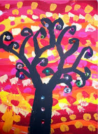 step by step for these sparkly trees from